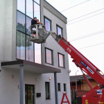 Building glass tinting