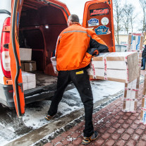 Window film delivery by TNT courier