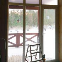 Kraftfilms Matte Bronze privacy film on glass door